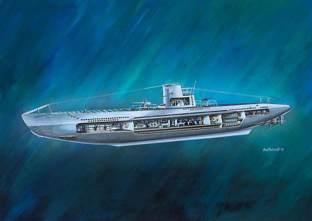 Neuf revell deutsches u boat u 47 avec int rieur sous for Interieur u boat