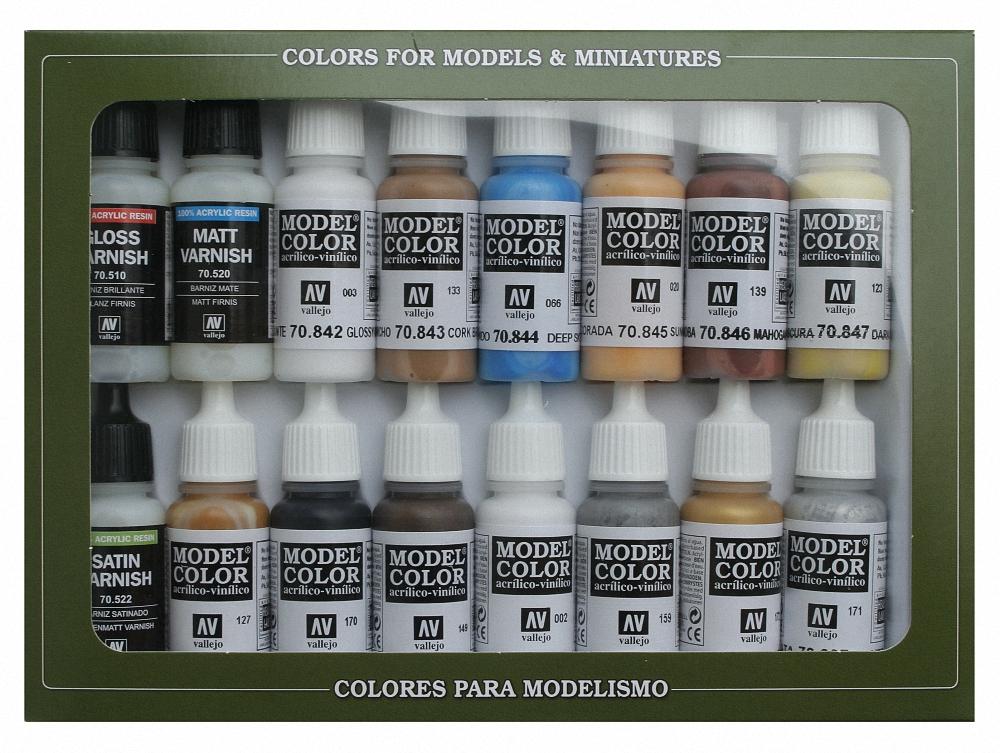 AV Vallejo Model Color Set - Basic Colors USA (x16)